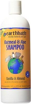 Smelling dog shampoo