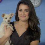 Lea Michele dog