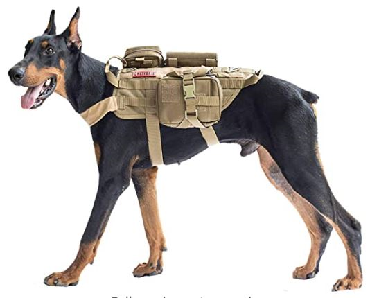 Onetigris Tactical Dog Molle vest 1 for dogs